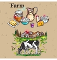 farm products composition vector image vector image