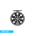 fishing reel icon in silhouette flat style vector image
