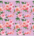 flamingo rose flowers pink color seamless pattern vector image vector image