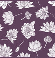 floral seamless pattern with elegant blooming vector image vector image