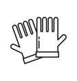 garden gloves icon in line art design vector image vector image