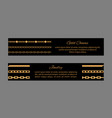 gold chains cards and text vector image vector image