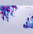 gradient background with colorful geometric shapes vector image