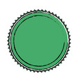 green label badge decoration blank emblem vector image vector image