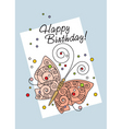 greeting card with butterfly vector image vector image