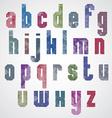 Halftone print dots textured font vector image vector image