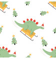 holiday seamless pattern with cute vector image vector image