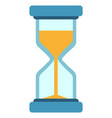 hour glass countdown sand clock icon minute vector image vector image