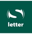 logo letter S vector image vector image