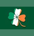 lucky clover like irish flag vector image vector image