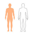 male silhouette contour on white background vector image vector image