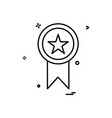 medal award star icon design vector image vector image