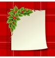 Merry Christmas and Happy New Year Christmas card vector image vector image