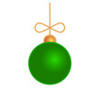 merry christmas ball toy isolated on white vector image