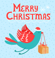 Merry Christmas bird vector image vector image