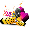 mic colorful background vector image vector image