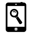 Mobile search icon vector image vector image