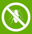 no cockroach sign icon green vector image vector image