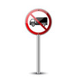 no truck sign vector image vector image