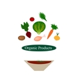Organic food Organic products Organic vegetables vector image vector image