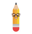 pencil write kawaii character vector image vector image