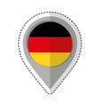 pin location germany flag icon vector image vector image