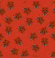 red seamless pattern with ladybugs vector image vector image