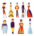 renaissance clothing woman man character in vector image