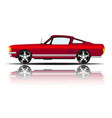 retro car red color white background image vector image vector image