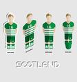 Scotland Soccer Team Sportswear Template vector image vector image