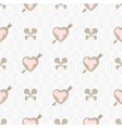 seamless background with arrow pierced hearts vector image vector image