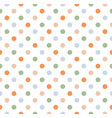 seamless cute doodle dots pattern vector image