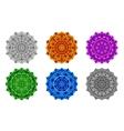 set mandala different colors vector image vector image