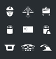 set of china bridge construction icons vector image