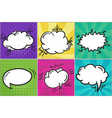 set of colorful cartoon retro comic speech bubbles vector image vector image