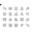 simple set ux related line icons vector image
