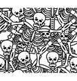Sinners seamless pattern Skeleton in Hell vector image