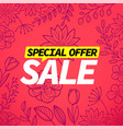 special offer banner abstract pink background vector image