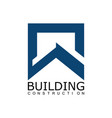 square building construction logo vector image vector image