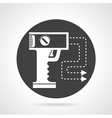 Stun gun black round icon