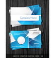 stylish business card vector image vector image