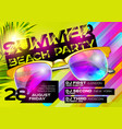 summer beach party poster for music festival vector image
