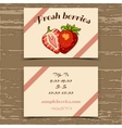 Template Business Card Strawberry vector image