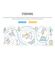 website banner and landing page fishing vector image vector image