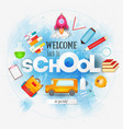welcome back to school card vector image