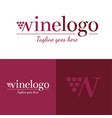 wine logo icon and logo vector image vector image
