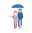 young couple holding hands vector image vector image