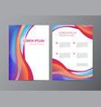 abstract modern wavy colorful flowing flyer vector image vector image