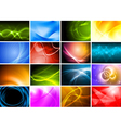 Abstract wavy design vector image vector image