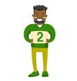 african-american sport fan supporting his team vector image vector image